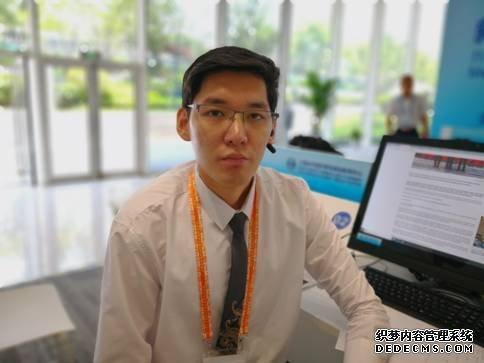 图为蒙古彭博电视台记者达世南 (中国日报网孙若男摄)